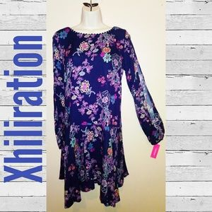 Xhilaration Blue Floral Dress-NWT